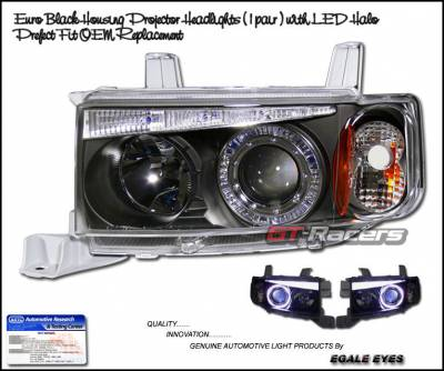 Headlights & Tail Lights - Headlights - Custom - Euro Black Halo LED Headlights