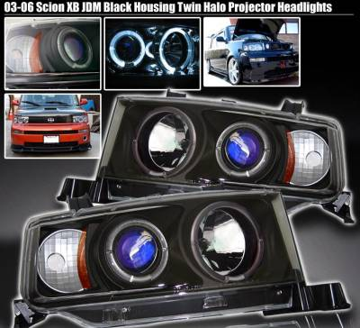 Headlights & Tail Lights - Headlights - Custom - Black Twin Halo Pro Headlights
