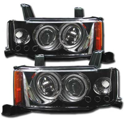 Headlights & Tail Lights - Headlights - Custom - Euro Black Twin Pro LED Headlights