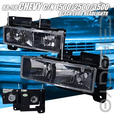 Headlights & Tail Lights - Headlights - Custom - Euro Black Headlights