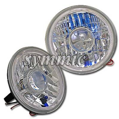 Headlights & Tail Lights - Headlights - Custom - Diamond Cut Halo Headlights