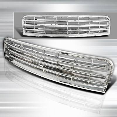 Grilles - Custom Fit Grilles - Custom Disco - Audi A4 Custom Disco Chrome Front Hood Grille - HG-A402CC