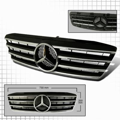 Grilles - Custom Fit Grilles - Custom Disco - Mercedes-Benz C Class Custom Disco CL Style Grille - HG-BW20301CL