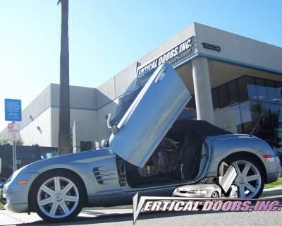 Vertical Door Kits - OEM - Vertical Doors Inc - Chrysler Crossfire VDI Vertical Lambo Door Hinge Kit - Direct Bolt On - VDCCRYCROS0408