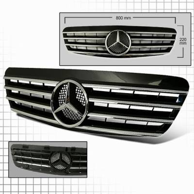 Grilles - Custom Fit Grilles - Custom Disco - Mercedes-Benz S Class Custom Disco Grille - HG-BW22099CL