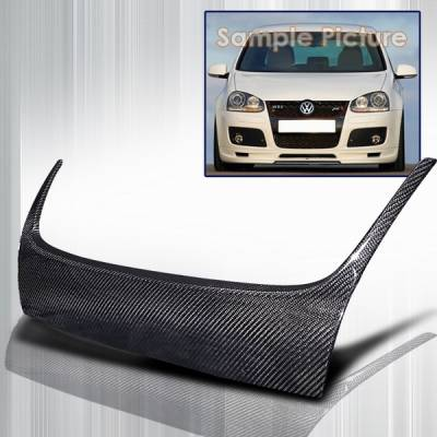 Grilles - Custom Fit Grilles - Custom Disco - Volkswagen Golf Custom Disco Carbon Hood Grille Cover - HG-CGLF06CF-ABS