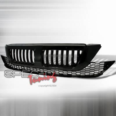 Grilles - Custom Fit Grilles - Custom Disco - Honda CRV Custom Disco Black Vertical Style Front Hood Grille - HG-CRV07JMVT