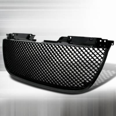 Grilles - Custom Fit Grilles - Custom Disco - GMC Denali Custom Disco Black Mesh Front Hood Grille - HG-DEN07JM