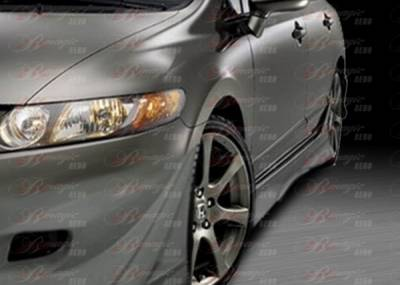 Civic 4Dr - Side Skirts - AIT Racing - Honda Civic 4DR BMagic Ace Series Side Skirts - HC06BMACESS4