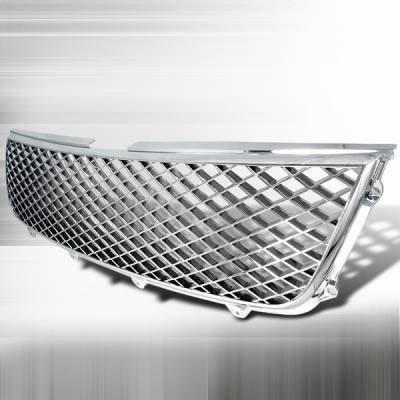 Grilles - Custom Fit Grilles - Custom Disco - Suzuki Grand Vitara Custom Disco Chrome Mesh Grille - HG-VIT06C
