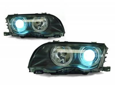 Headlights & Tail Lights - Headlights - Custom - Projector Halo Headlights Xenon HID