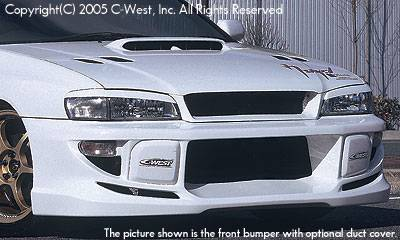 Impreza - Front Bumper - C-West - Front Bumper With Fog Screw Holes