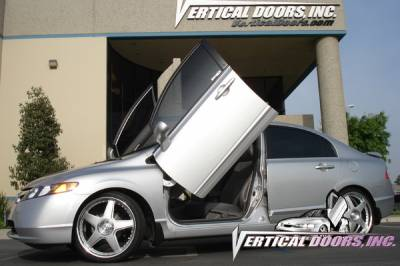 Vertical Door Kits - OEM - Vertical Doors Inc - Honda Civic 4DR VDI Vertical Lambo Door Hinge Kit - Direct Bolt On - VDCHC06084D