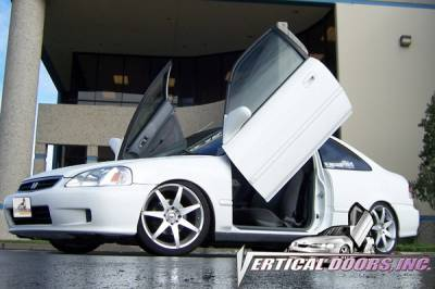 Vertical Door Kits - OEM - Vertical Doors Inc - Honda Civic VDI Vertical Lambo Door Hinge Kit - Direct Bolt On - VDCHC9600