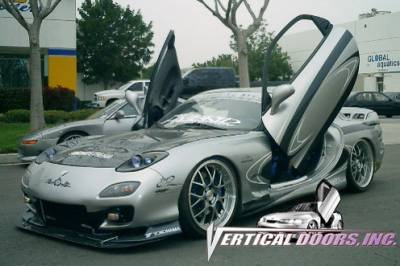 Vertical Door Kits - OEM - Vertical Doors Inc - Mazda RX-7 VDI Vertical Lambo Door Hinge Kit - Direct Bolt On - VDCMAZRX79397