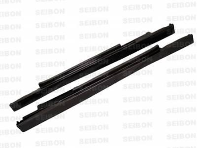 Prelude - Rear Bumper - Seibon - Honda Prelude Seibon MG Style Carbon Fiber Rear Lip - RL9701HDPR-MG