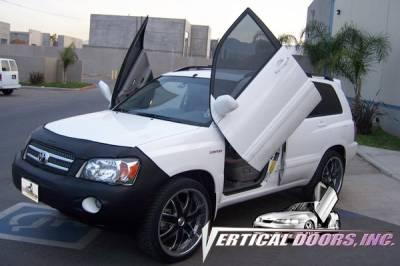 Vertical Door Kits - OEM - Vertical Doors Inc - Toyota Highlander VDI Vertical Lambo Door Hinge Kit - Direct Bolt On - VDCTOYH0107