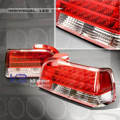 Headlights & Tail Lights - Led Tail Lights - Custom - RED Individual LED Tail Lights - Chrome Housing