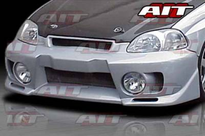 Civic HB - Front Bumper - AIT Racing - Honda Civic AIT EVO5 Style Front Bumper - HC96HIEVO5FB
