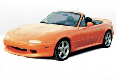 Miata - Rear Add On - VIS Racing - Mazda Miata VIS Racing W-Type Rear Lip - Fiberglass - 490010