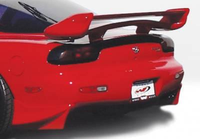 RX7 - Rear Add On - VIS Racing - Mazda RX-7 VIS Racing Aggressor Rear Spat Set - Fiberglass - 2PC - 490145
