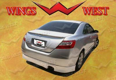 Civic 2Dr - Rear Add On - Wings West - Honda Civic Wings West Type R Rear Lip - 490216