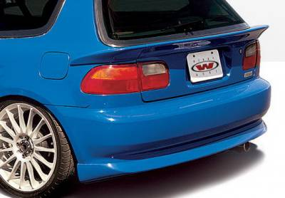 Civic HB - Rear Add On - Wings West - Honda Civic HB Wings West Racing Series Rear Lower Skirt - 890067