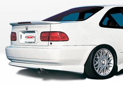 Civic 2Dr - Rear Add On - VIS Racing - Honda Civic 2DR VIS Racing Racing Series Rear Lip - Polyurethane - 890070