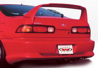 Integra 2Dr - Rear Add On - Wings West - Acura Integra 2DR Wings West Racing Series Rear Lower Skirt - 890081
