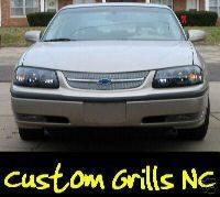 Grilles - Custom Fit Grilles - Custom - Chrome Mesh Grille Insert