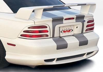 Mustang - Rear Add On - VIS Racing - Ford Mustang VIS Racing Custom Style Rear Lip - Polyurethane - 890112