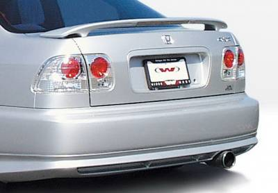Civic 2Dr - Rear Add On - Wings West - Honda Civic 2DR & 4DR Wings West Racing Series Rear Lower Skirt - 890130