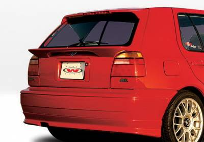 Golf - Rear Add On - Wings West - Volkswagen Golf Wings West Custom Style Rear Lower Skirt - 890142