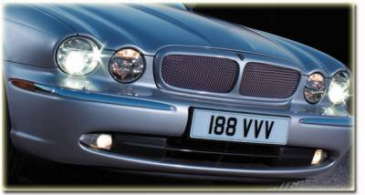 Grilles - Custom Fit Grilles - Custom - XJ8 SS Mesh Grille Insert