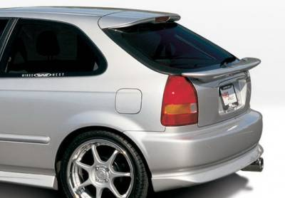 Civic HB - Rear Add On - Wings West - Honda Civic HB Wings West W-Type Rear Lower Skirt - 890186