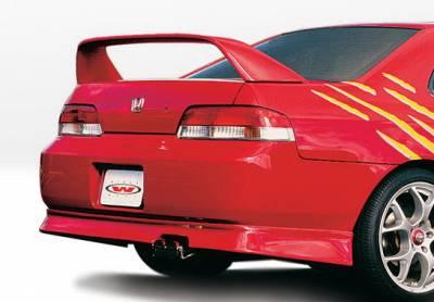Prelude - Rear Add On - Wings West - Honda Prelude Wings West Racing Series Rear Lower Skirt - 890205