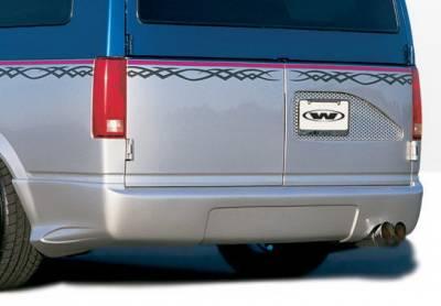 Astro Van - Rear Add On - Wings West - Chevrolet Astro Wings West W-Type Rear Lower Skirt - 890214