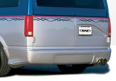 Astro Van - Rear Add On - VIS Racing - Chevrolet Astro VIS Racing W-Type Rear Lip - Polyurethane - 890214