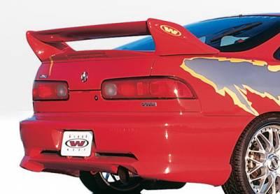 Integra 2Dr - Rear Add On - Wings West - Acura Integra 2DR Wings West W-Type Rear Lower Skirt - 890227