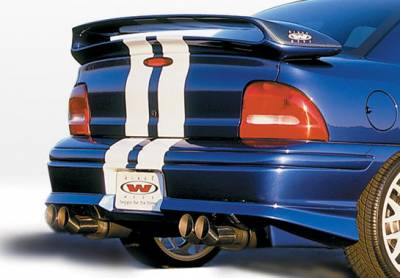 Neon 2Dr - Rear Add On - VIS Racing - Dodge Neon VIS Racing Racing Series Rear Lip - Polyurethane - 890294