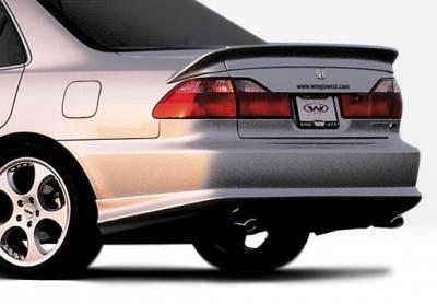 Accord 4Dr - Rear Add On - VIS Racing - Honda Accord 4DR VIS Racing W-Type Rear Lip - Polyurethane - 890335