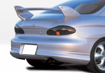 Tiburon - Rear Add On - VIS Racing - Hyundai Tiburon VIS Racing W-Type Rear Lip - Polyurethane - 890368