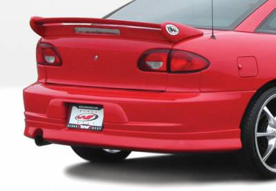 Cavalier 2Dr - Rear Add On - VIS Racing - Chevrolet Cavalier 2DR VIS Racing W-Type Rear Lip - Polyurethane - 890439