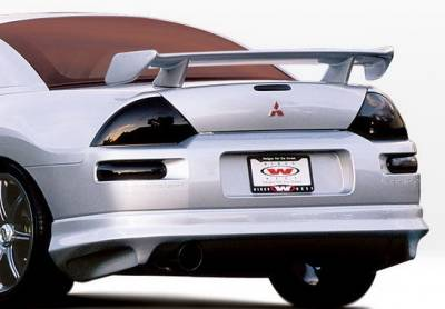 Eclipse - Rear Add On - Wings West - Mitsubishi Eclipse Wings West W-Type Rear Lower Skirt - 890452
