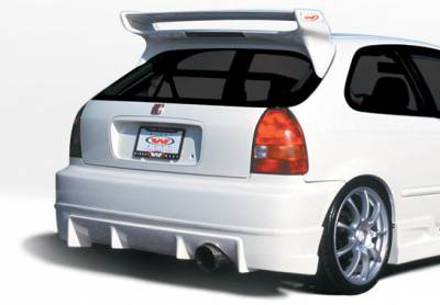 Civic HB - Rear Add On - VIS Racing - Honda Civic HB VIS Racing Tuner Type I Rear Lip - Polyurethane - 890504