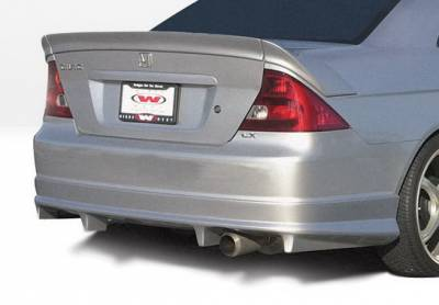Civic 2Dr - Rear Add On - Wings West - Honda Civic 2DR Wings West G5 Series Rear Lower Skirt - 890518