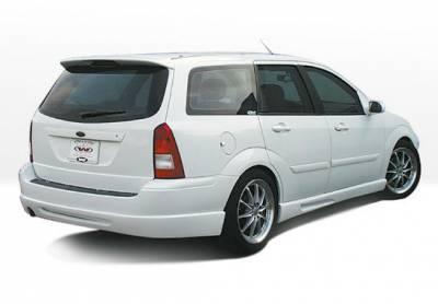 Focus Wagon - Rear Add On - VIS Racing - Ford Focus Wagon VIS Racing W-Type Rear Lip - Polyurethane - 890534