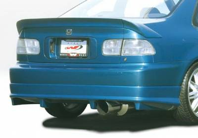 Civic 2Dr - Rear Add On - Wings West - Honda Civic 2DR Wings West G5 Series Rear Lower Skirt - 890607