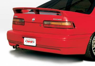 Integra 2Dr - Rear Add On - Wings West - Acura Integra 2DR Wings West Racing Series Rear Lower Skirt - 890689