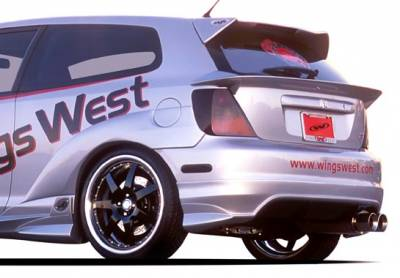 Civic HB - Rear Add On - VIS Racing - Honda Civic HB VIS Racing G-55 Series Rear Lip - Polyurethane - 890751